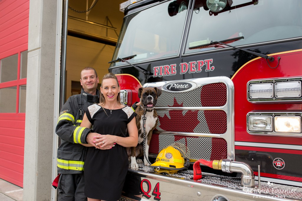 Langley Engagement Photo Firehall