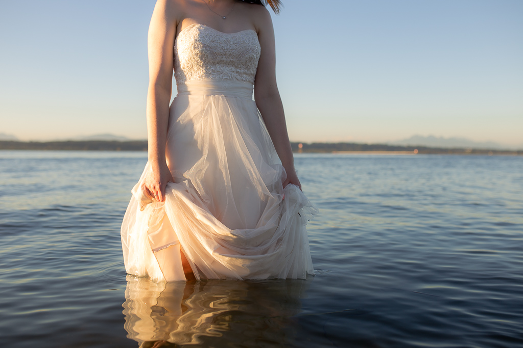 Trash the Dress Session at Crescent Beach