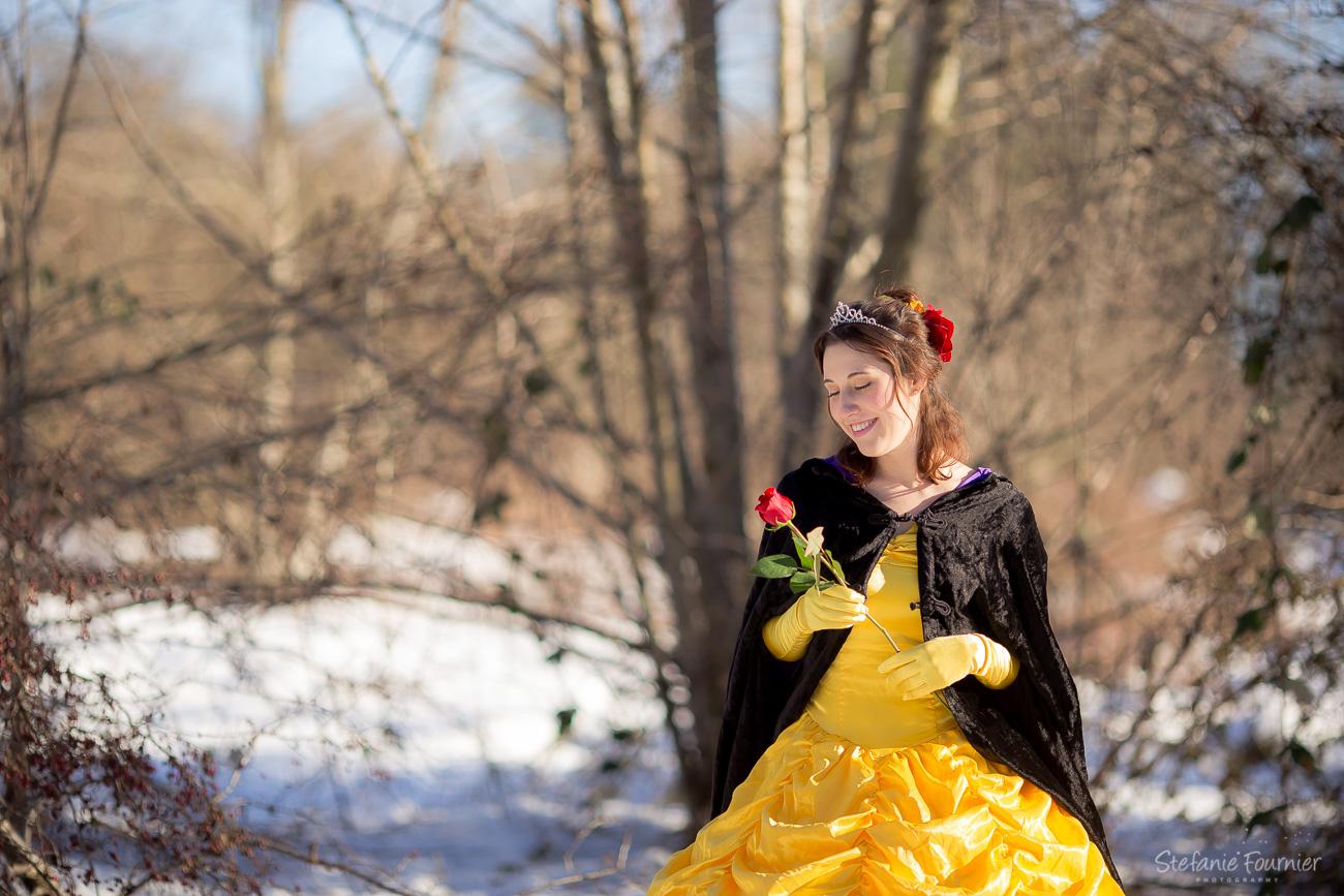 Belle Styled Photoshoot Beauty The Beast Stefanie Fournier